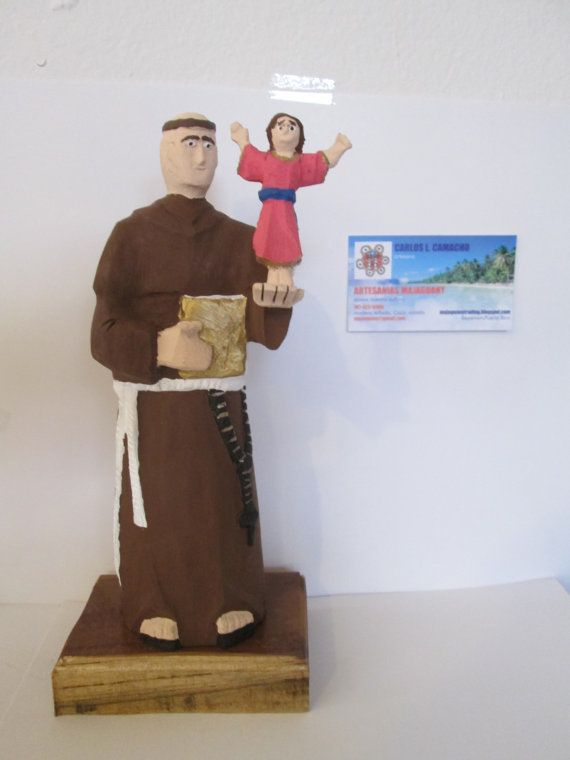 Saint Antonio  Padua carved wood religious by TamabucopiCraft