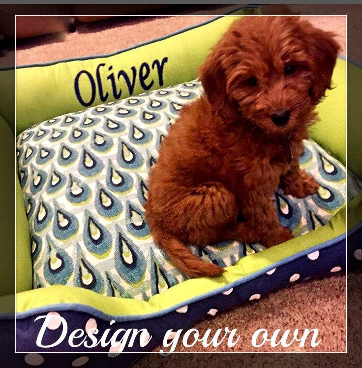 Personalized  Dog or Cat Beds | Name embroidery free | Durable Dog Bed | Washable Dog Bed |  Choose your own fabric | Dog Bedding | Pet Bedd by SammysSewShop on Etsy
