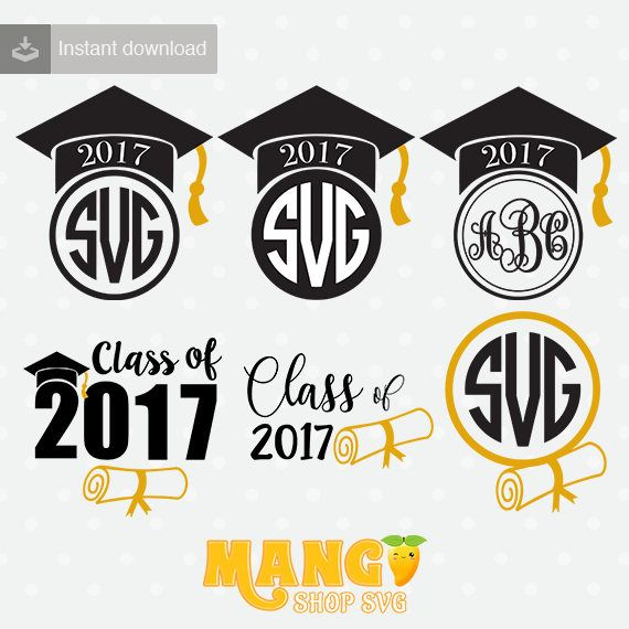 Graduation Cap Monogram, Graduation Cap SVG, Graduation Cap Clipart, Graduation Cap cutting file, SVG, SVG, dxf, downloadable.