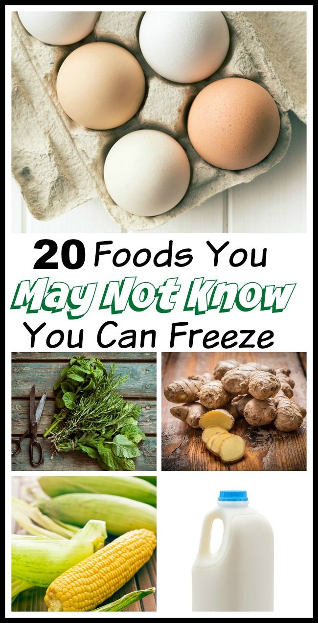 20 Foods you can freeze! Have you ever passed up a great food sale or a bulk price deal because you were afraid the majority of the food would wind up going to waste? You won't believe all the things you can freeze! Money saving tips, budgeting , frugal living