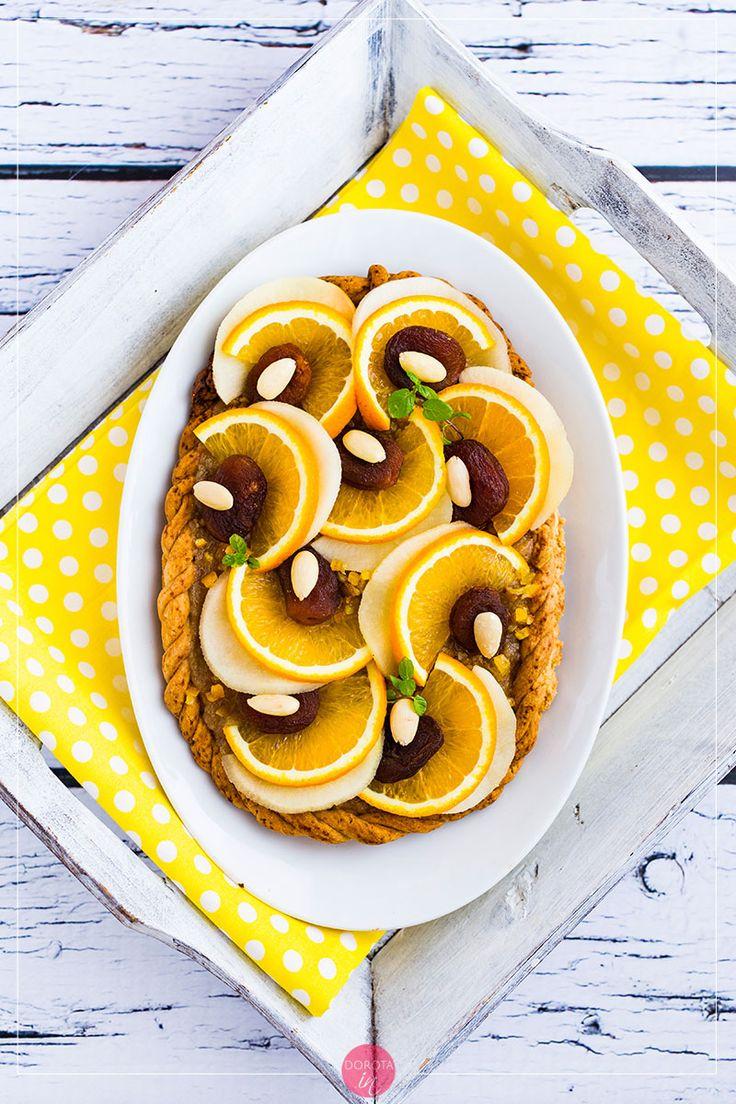 Piękny mazurek pomarańczowy na #wielkanoc - wbrew pozorom nie jest skomplikowany do przygotowania :D. #przepis #ciasto #wypieki