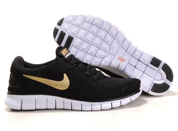 Mens Nike Free Runs Black Gold Shoes [Tiffany Free Runs 356]-$53.88  oooooooo for UCF | Things I Need. | Pinterest | Gold shoes, Black gold and  Tiffany