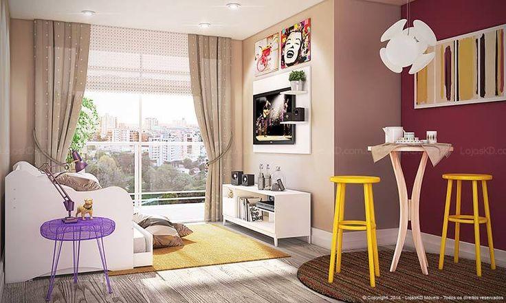 Sala Pequena Sofa E Mesa ~ Mesas
