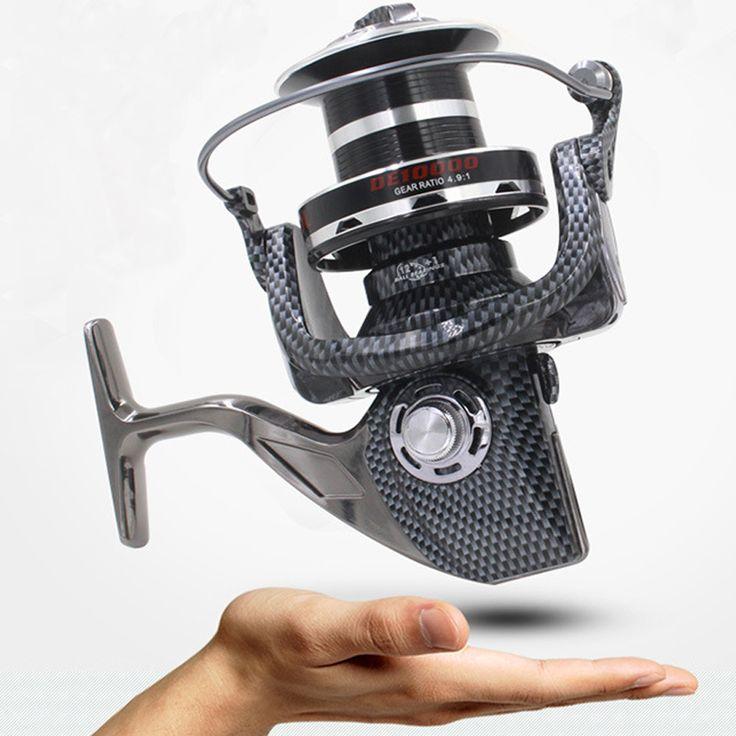 High-end FDDL 9000 10000 type 12+1BB all-metal line cup spinning reel large long shot wheel fishing reel carretilha para pesca