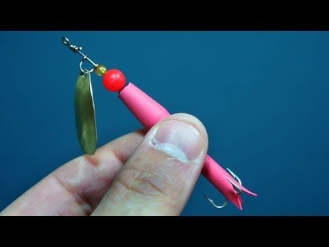 Instructions - How to make your own in line spinner fishing lures - YouTube
