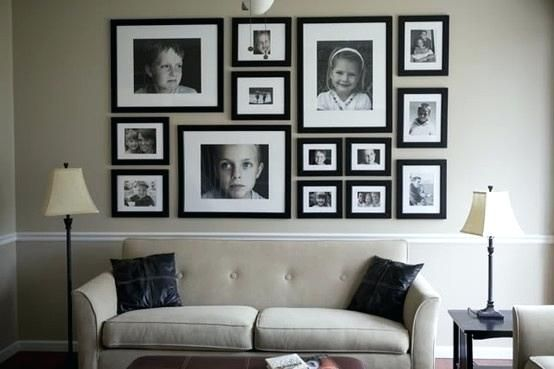 Picture Frame Wall Ideas Picture Frame Arrangements Wall Ideas