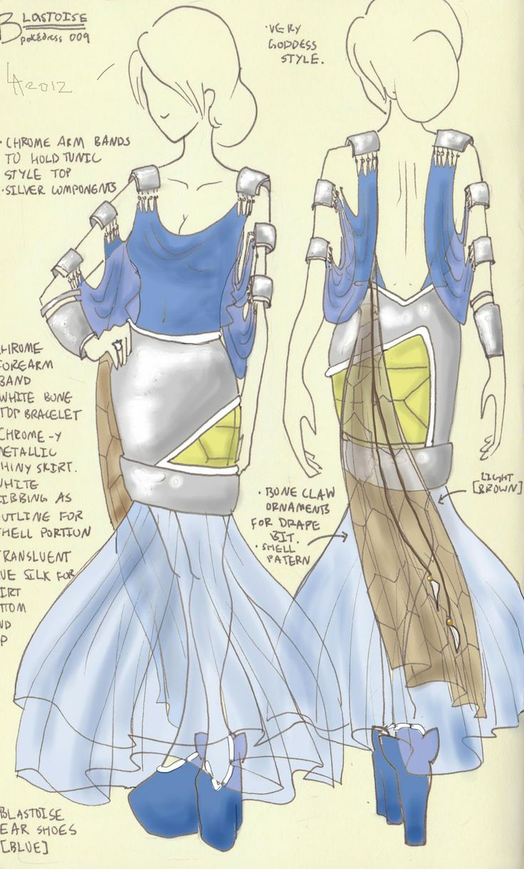 video games fashion and gaming style blastoise dress design - Clothing Design Ideas