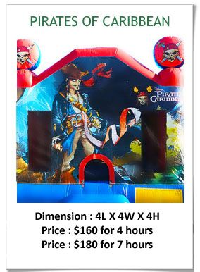 Kids jumping castle along with pop corn machine and slush machine hire online and surprise your kids in parties.