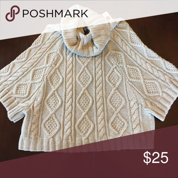 New with tags GAP beautiful cable knit poncho New with tags GAP beautiful cable knit girls poncho! Great for chilly spring nights or eating in air conditioning( restaurants and movies) PRICE IS GREAT AND FIRM! GAP Shirts & Tops Sweaters