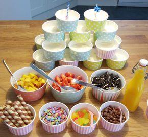 Joghurt Bar für Kindergeburtstag mit Cheesecake-Creme Rezept