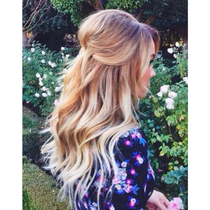 half up do with beach inspired waves & lots of volume.