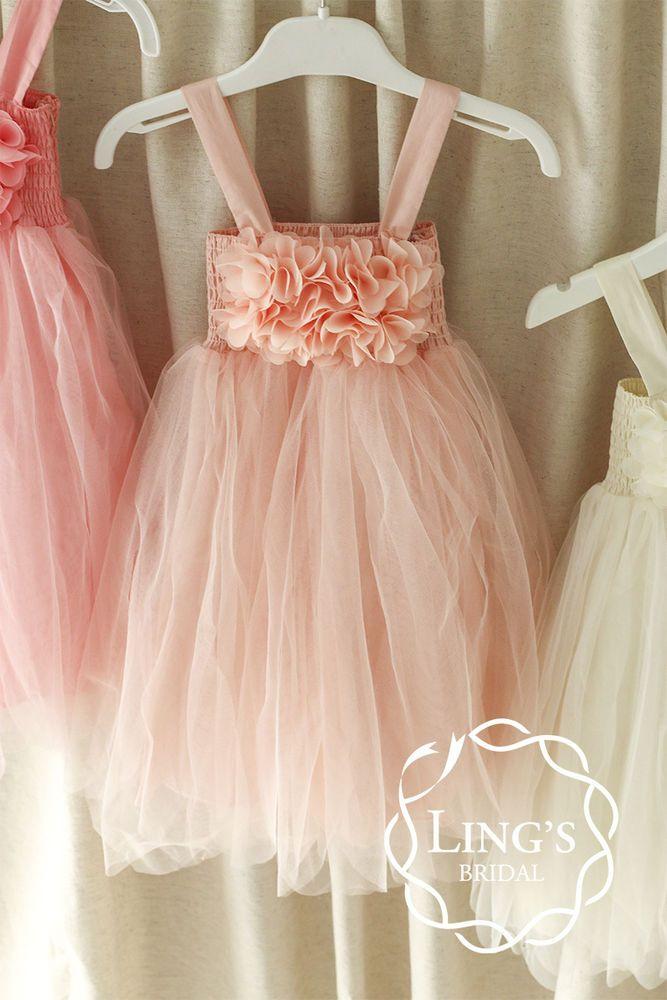 Vintage Flower Girl Dress Wedding Party Baptism Christening Toddler Tutu Dresses #Lingsmoment