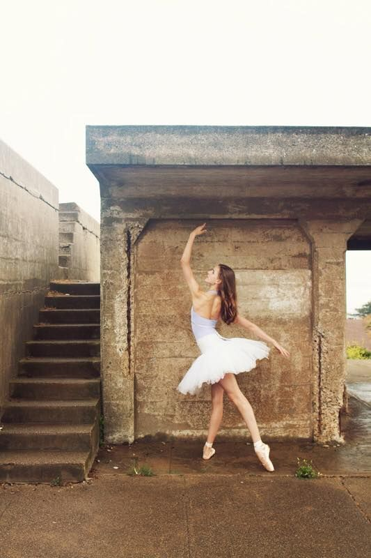 Rustic stairs with ballerina