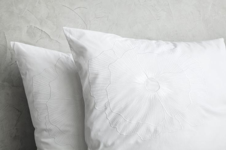 Every stitch counts! Fine luxury embroidered bed linen. Christain Fischabacher Luxury Nights. BLOOM