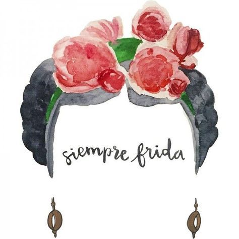Frida Kahlo t-shirt, with its characteristic flowery hair.