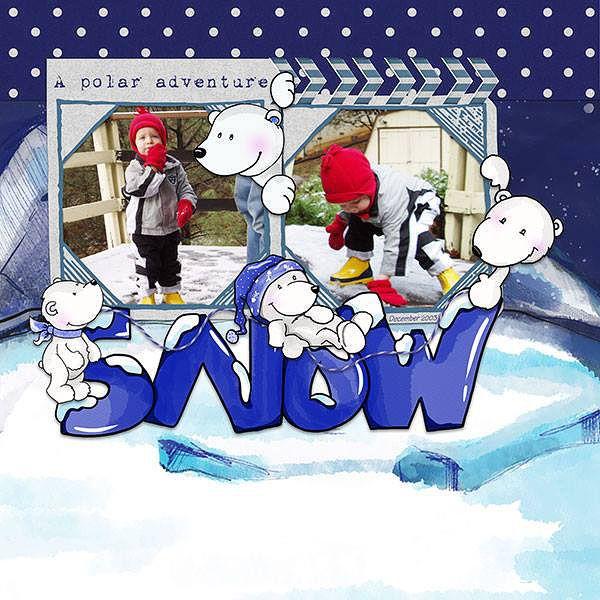 Oscraps.com :: Shop by Category :: All New :: SoMa Design: Polar Pals Kit