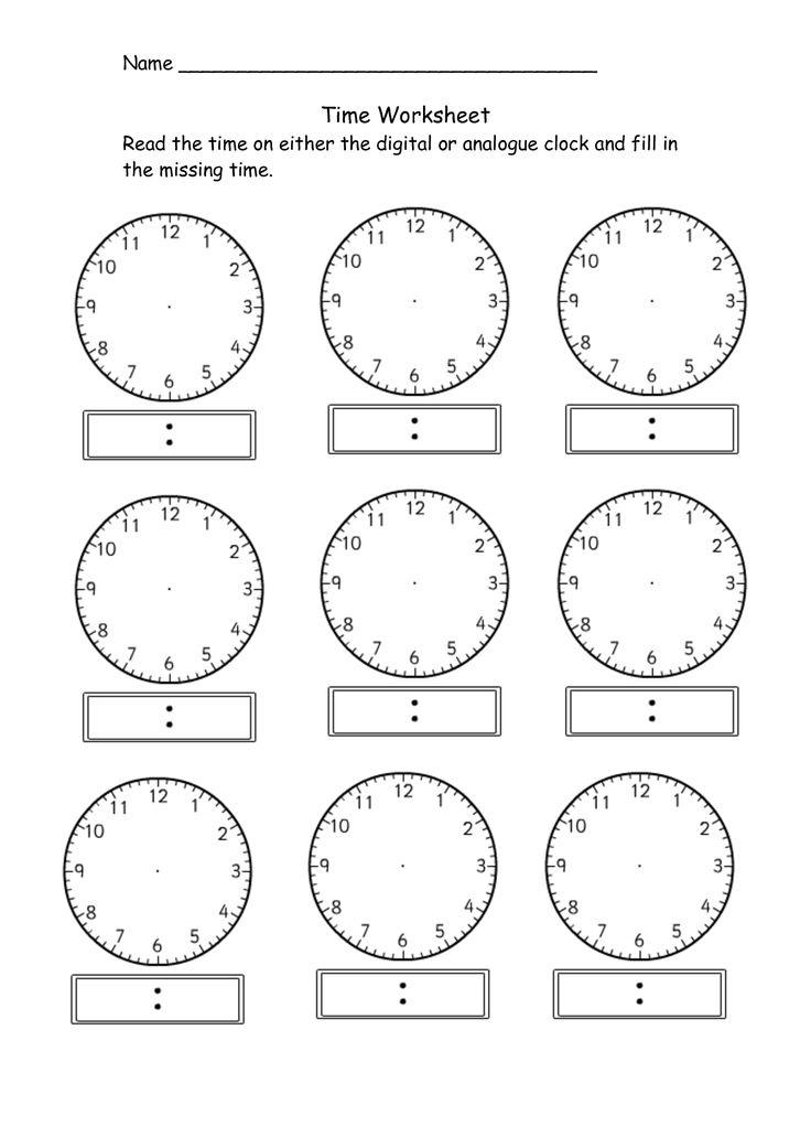25+ best ideas about Clock worksheets on Pinterest   Teaching ...