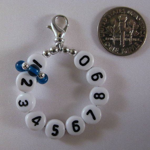 10 Row Counter Stitch Marker The Original Mighty by HIDEandSHEEP, $8.50