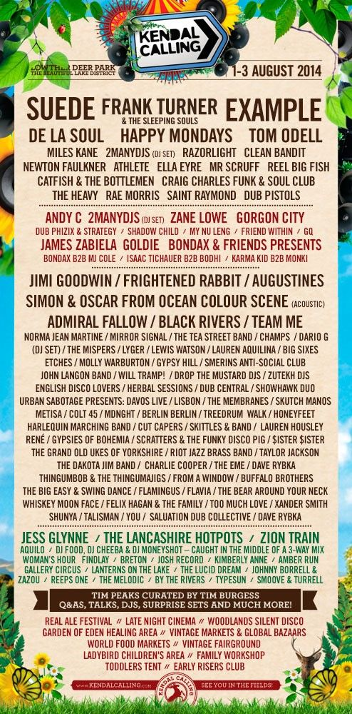Kendal Calling's complete line-up, how exciting!  www.ticketline.co.uk/kendal-calling