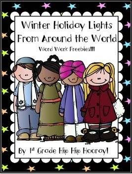 Winter Holiday Lights From Around the World freebie!
