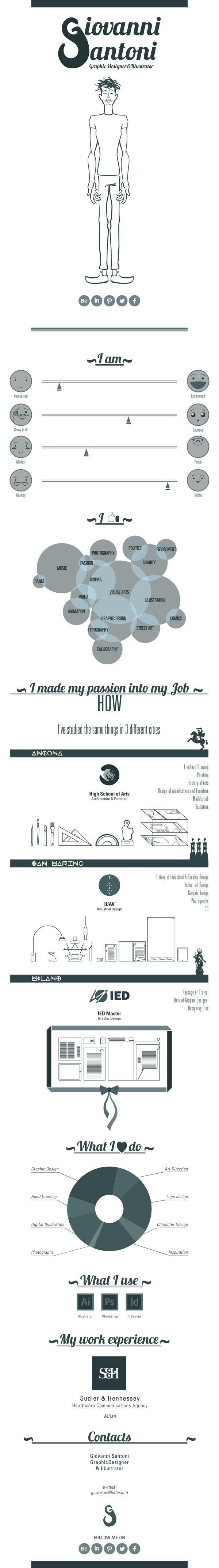 48 Best Interesting Visual Resumes Images On Pinterest Resume
