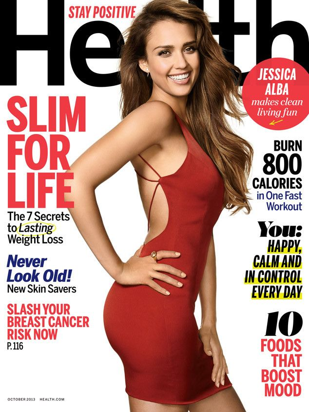 Jessica Alba is red-hot on the Oct. 2013 cover of Health magazine!