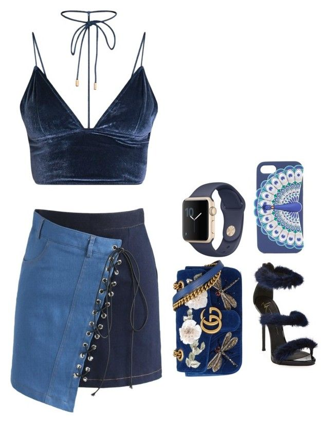 """""""Untitled #8"""" by angeline-mewengkang on Polyvore featuring Chicwish, Giuseppe Zanotti, Gucci and Kate Spade"""