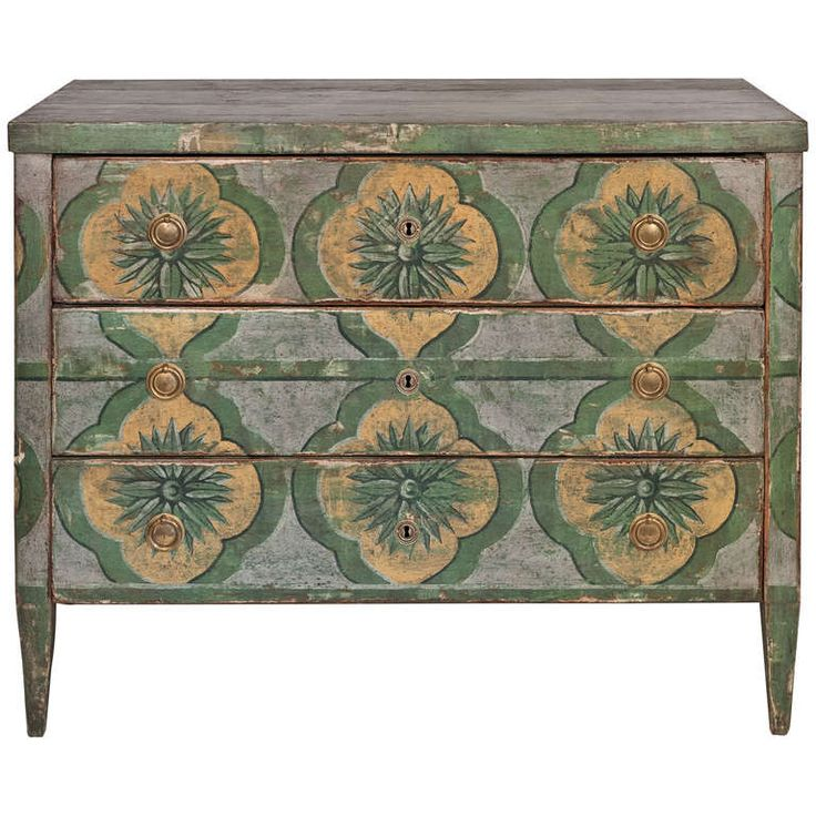 Spanish Hand Painted Fir Chest Of Drawers | From A Unique Collection Of  Antique And Modern