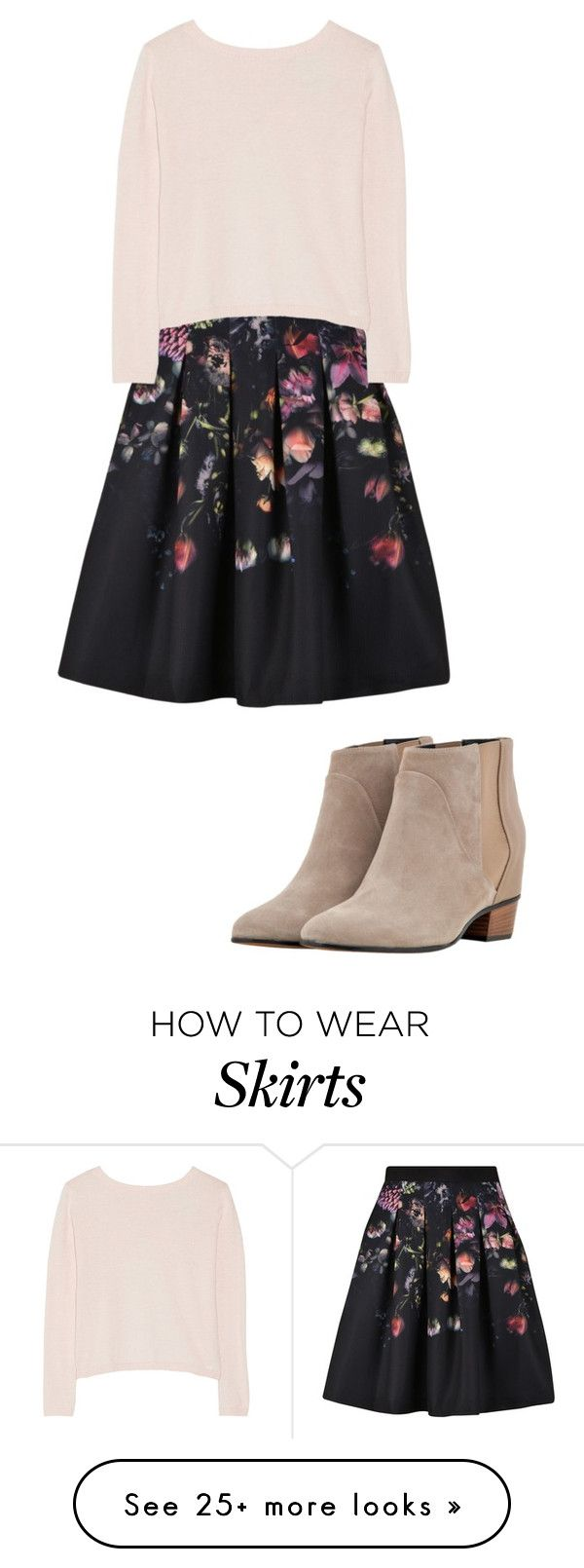"""Flower skirt"" by butterphinmnb on Polyvore featuring Ted Baker, Banjo & Matilda and Augusta"
