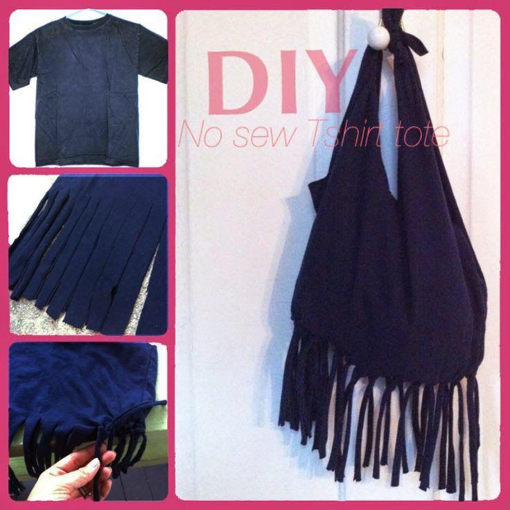 EL MUNDO DEL RECICLAJE: Recicla una vieja camiseta y hazte un bolso