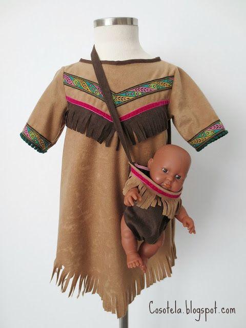 traje de india nia disfraz india indiosideas