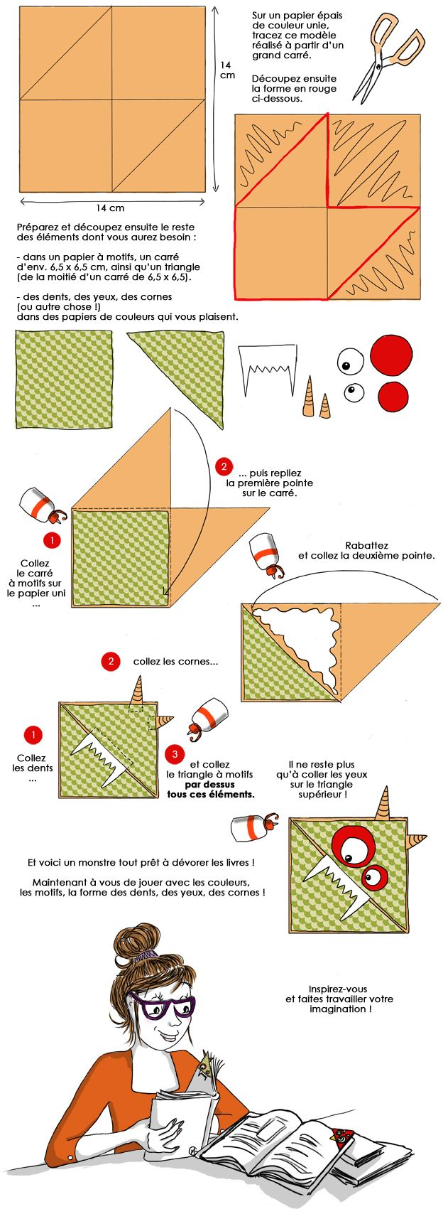 Corner bookmark templates and tutorials