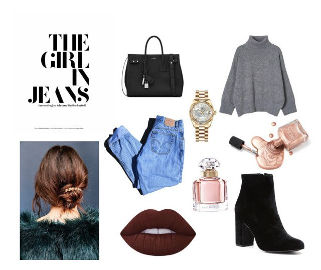 """Cool."" by carlacorucho on Polyvore featuring Levi's, Yves Saint Laurent, Rolex, Witchery, Guerlain and Urban Outfitters"
