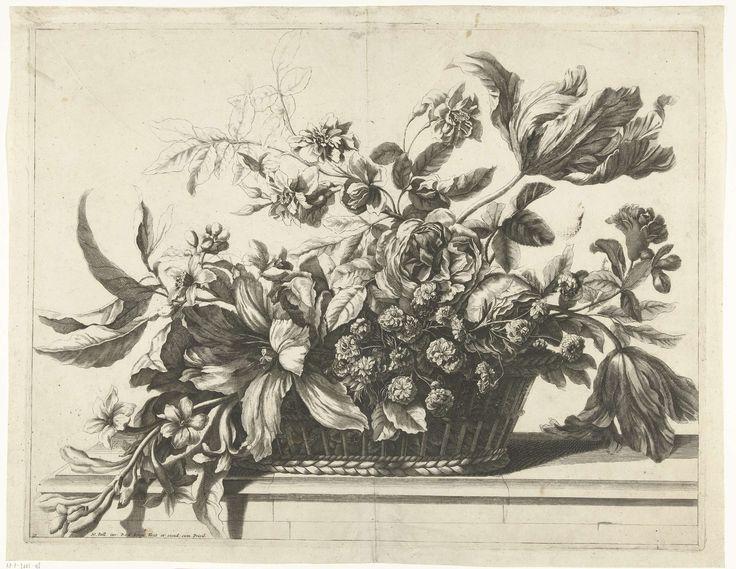 Mand met bloemen, Pieter van den Berge, c. 1694 - before 1737