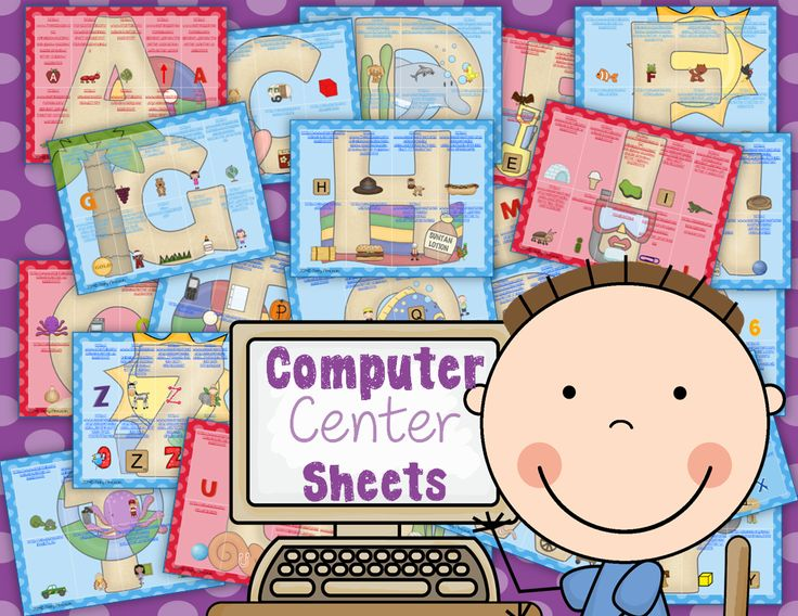 Love these for my computer station!!  http://www.sharingkindergarten.com/2014/03/computer-center-sheets-abcs.html