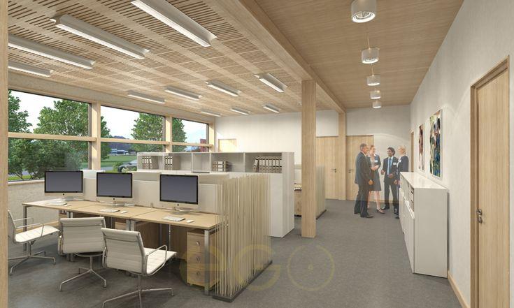 дизайн проект интерьера офисного пространства опен спэйс open space