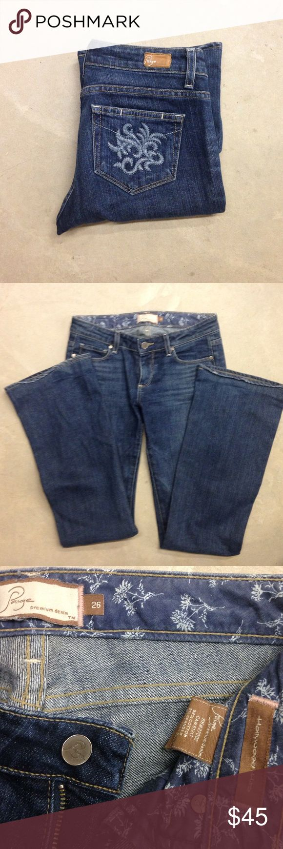 """Paige Premium Denim-Hollywood Hills Paige Premium Denim-Hollywood Hills jeans 👖 size 26, inseam 31"""". Paige Jeans Pants"""
