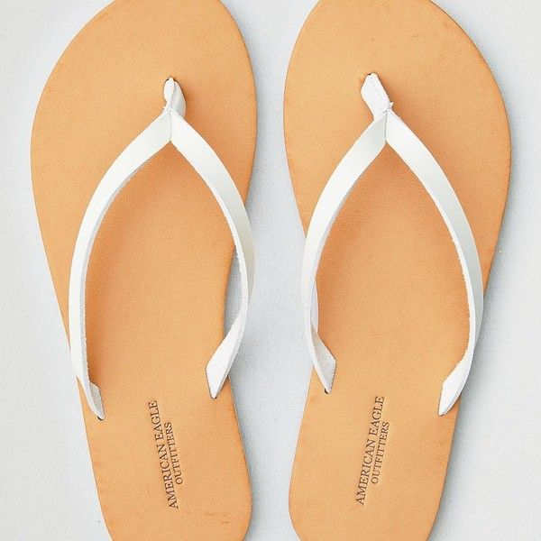 AE Simple Thong Flip Flop ($15) ❤ liked on Polyvore featuring shoes, sandals, flip flops, white, white shoes, american eagle outfitters shoes, lightweight shoes, plastic sandals and american eagle outfitters