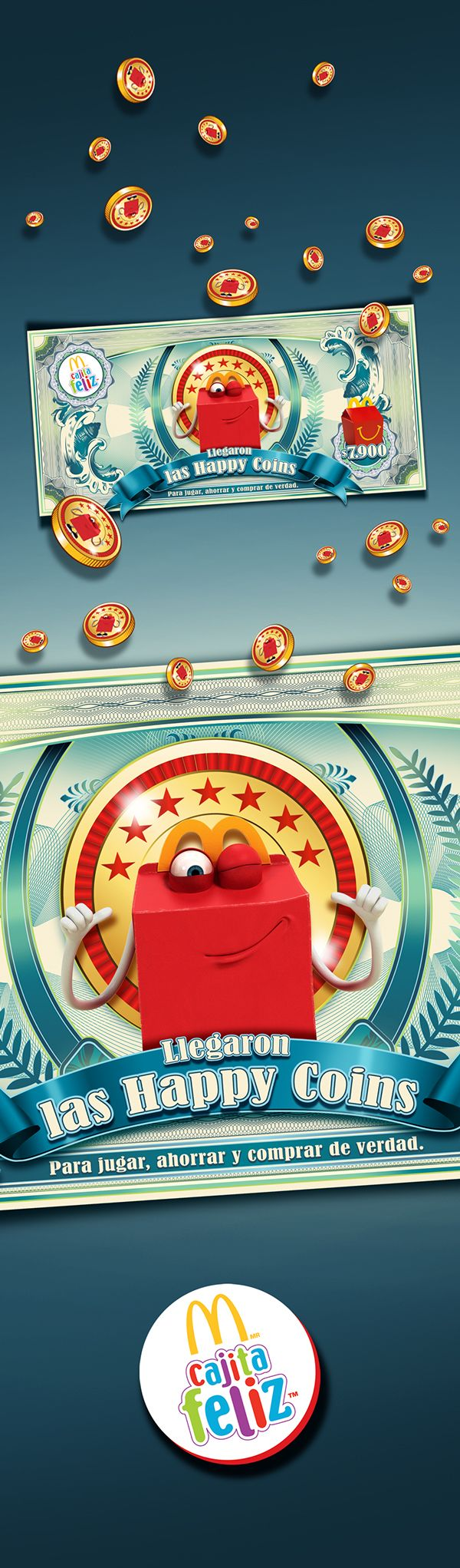 Happy coins on Behance