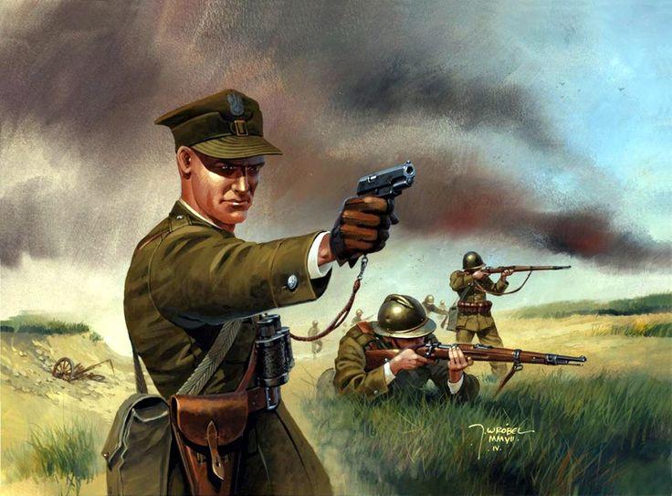 1939 Oficial y soldados polacos - Jaroslaw Wrobel