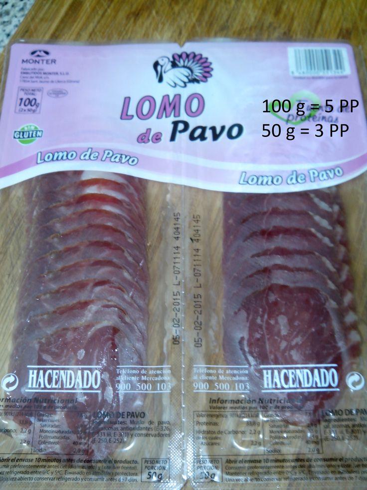 Chorizo de Pavo Mercadona - 100 g 5 Puntos; 50g 3 puntos 7 Lonchas 1 punto