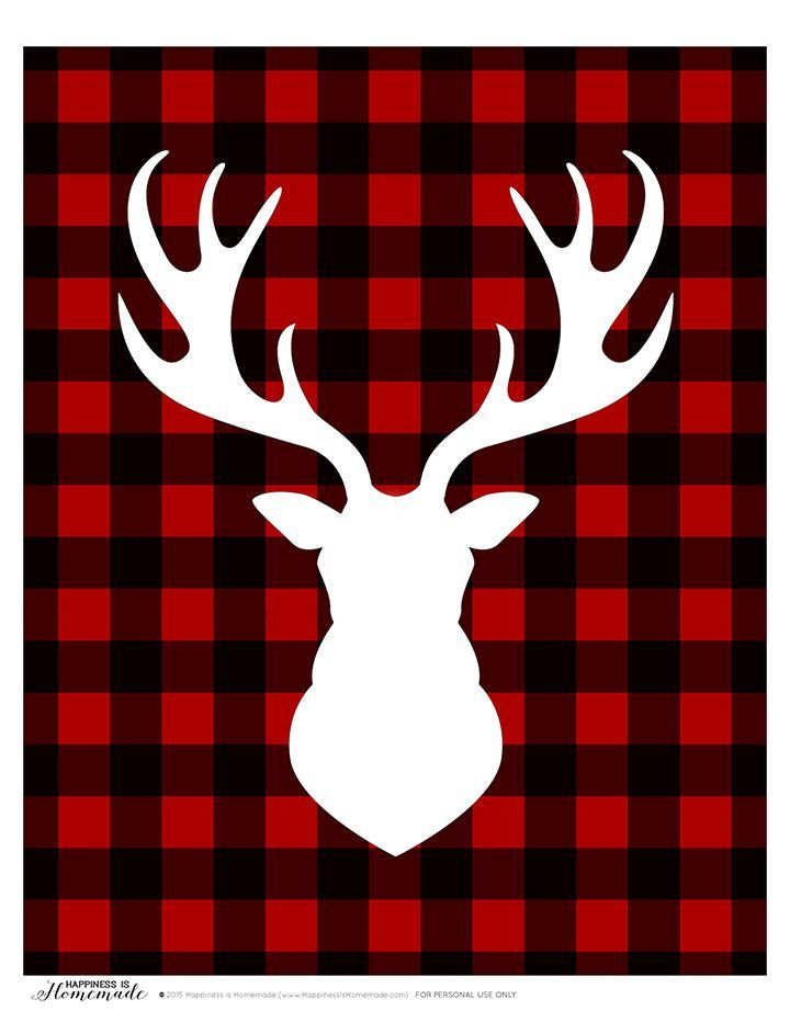 Buffalo Check Plaid Printable Gift Tags Amp Deer Head