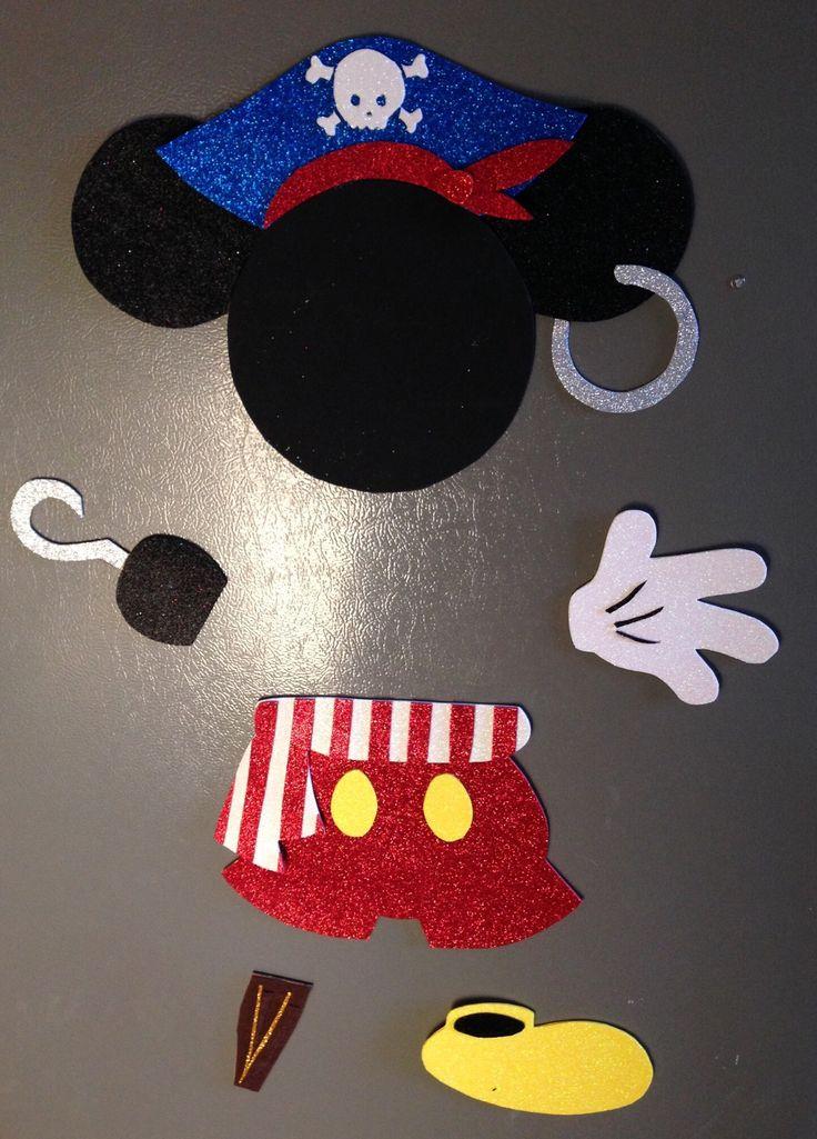 Pirate Mickey Disney Cruise Door Magnet Disney