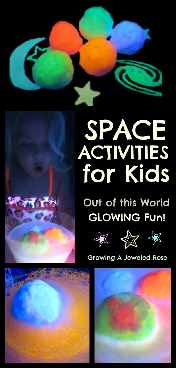 Fun space activities for kids- hatching alien eggs, space rocks, MOON Dough & more!
