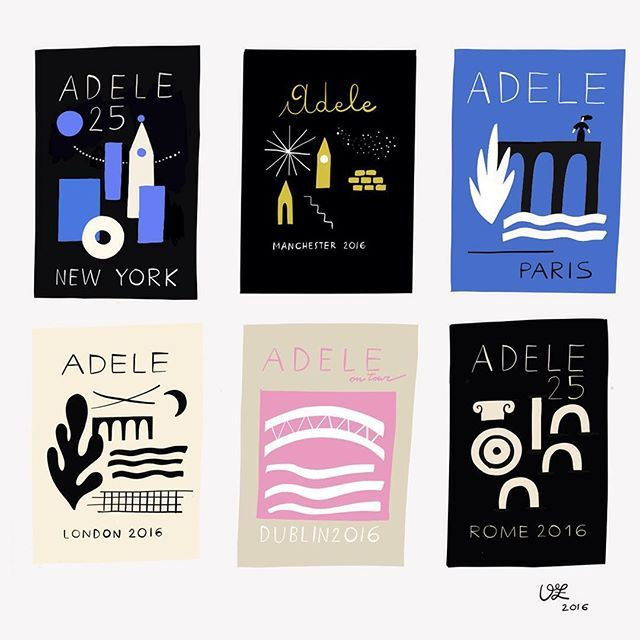 Olympia Ziagnoli: Rejected sketches for @adele 2016 tour. At least i can say that i've tried.