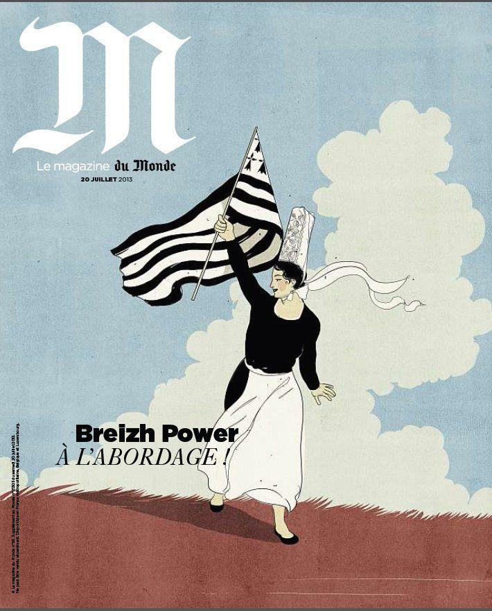 Le Monde Magazine Juillet 2013 - Breizh Power, à l'abordage #Lemonde #Bretagne #presse #magazine #abordage #finistere #britanny #bigouden #gwennhadu #noiretblanc #blackandwhite #29