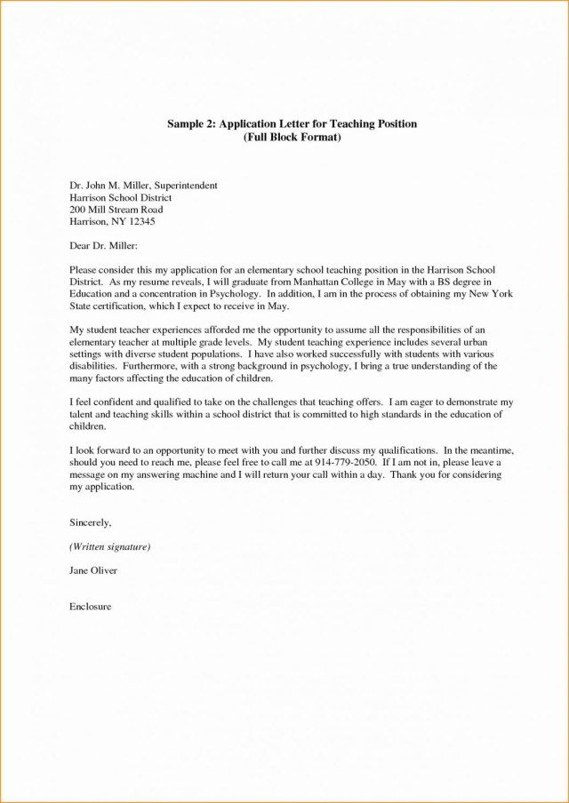 26+ Cover Letter For Teaching Position Cover Letter Tips