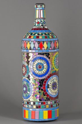 recycled glass bottles lamps - Buscar con Google