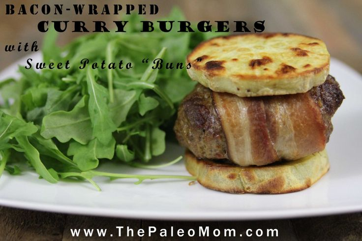 Bacon-Wrapped Curry Burgers with Sweet Potato Buns 2
