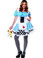 #partycity Adult Miss Wonderland Costume Plus Size-Sexy Costumes-Womens Plus Size Costumes-Plus Size Costumes-Halloween Costumes-Party City